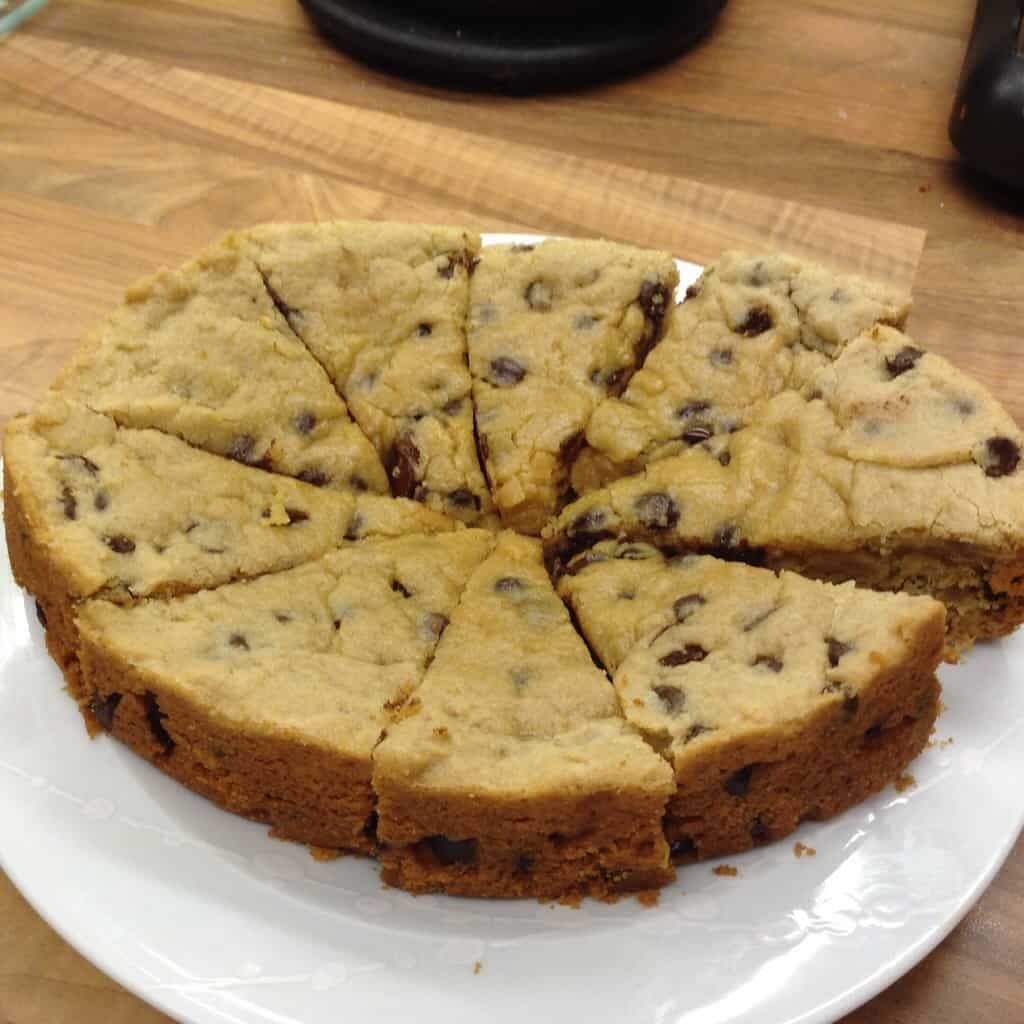 Slow Cooker Choc Chip and Sultana Giant Cookie by BakingQueen74