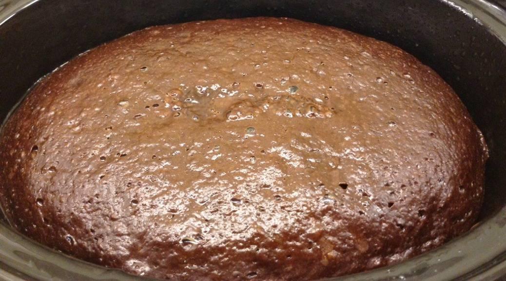 Slow Cooker Self-saucing Chocolate Orange Pudding