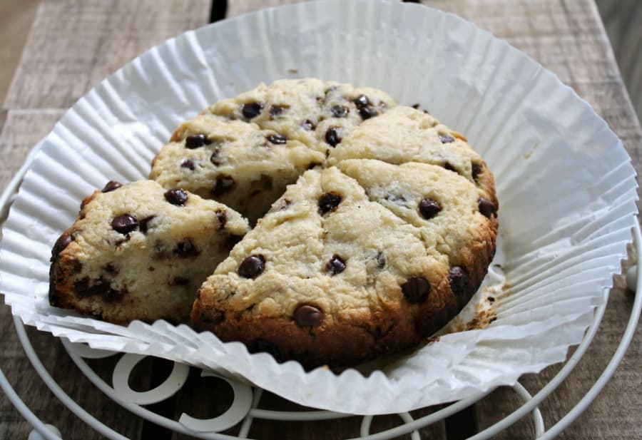 Slow Cooker Chocolate Chip Scones