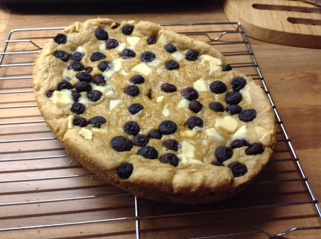 Slow Cooker White Chocolate and Blueberry Giant Cookie by ...