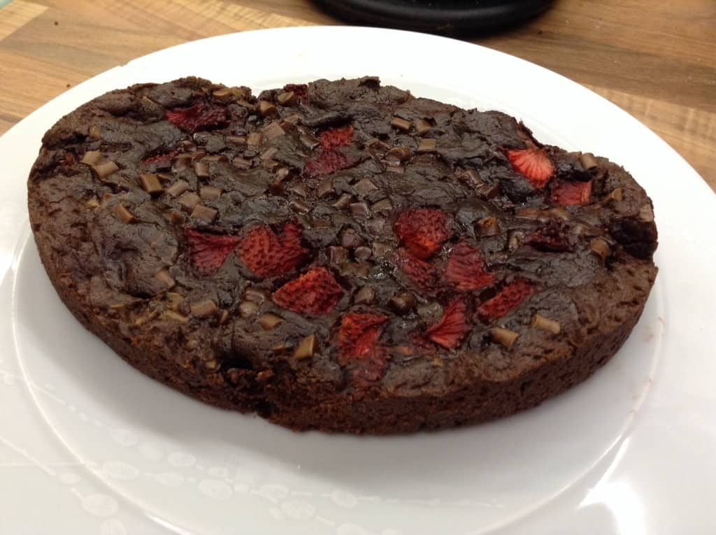 Slow Cooker Strawberry and Chocolate Chunk Giant Cookie by BakingQueen74