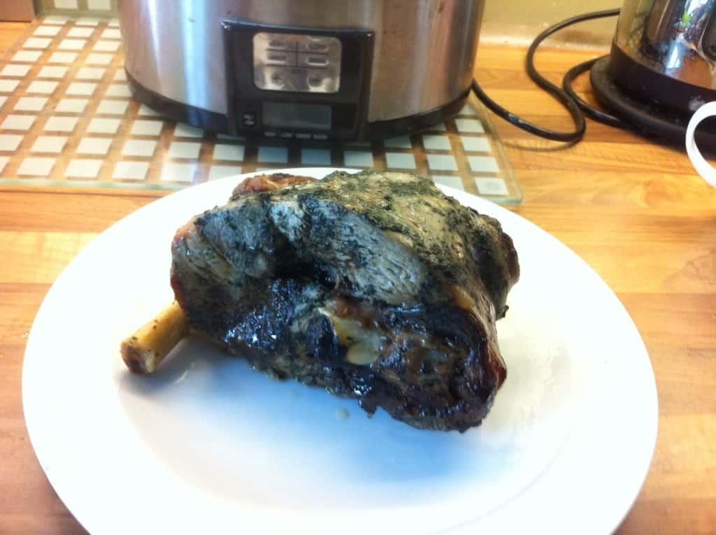 Slow Cooker Leg of Lamb