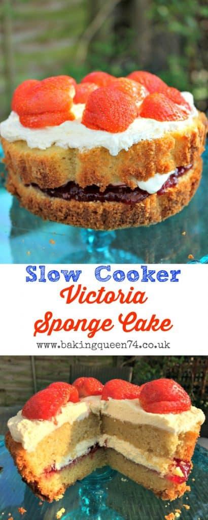 Slow Cooker Victoria Sponge
