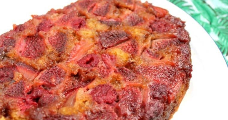 Slow Cooker Berry Upside Down Cake