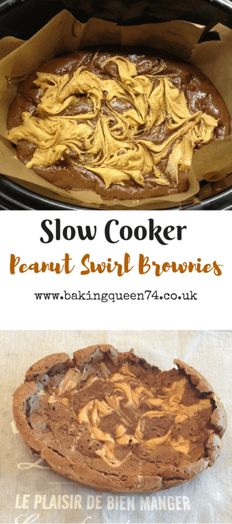Slow Cooker Peanut Swirl Brownies
