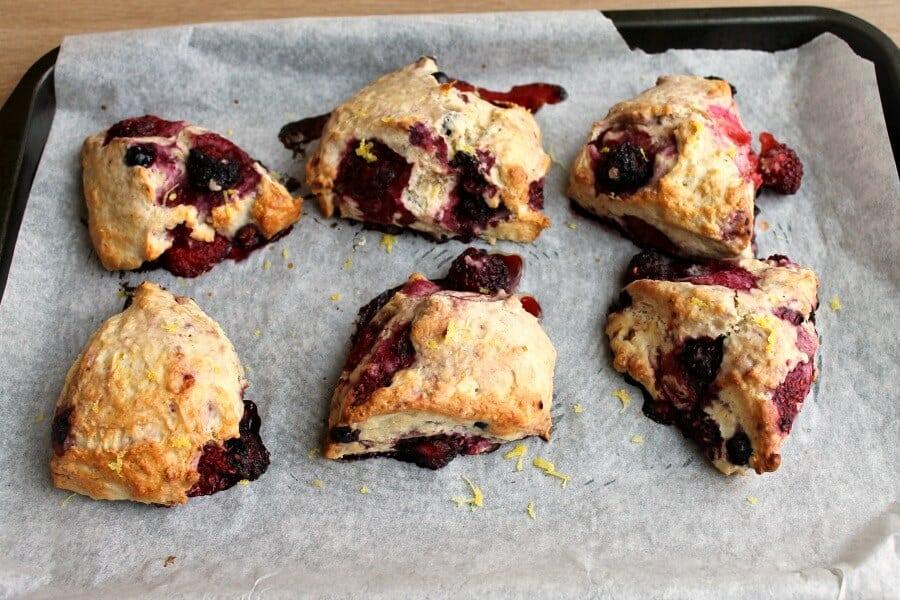 Lemon Berry Scones - after baking