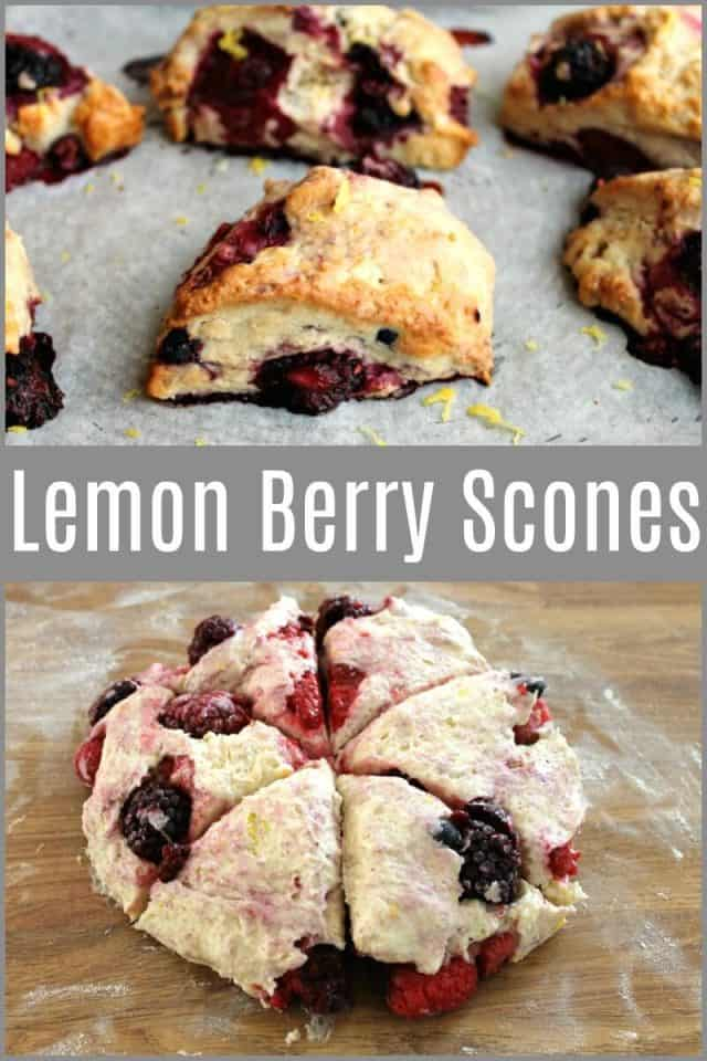 Lemon Berry Scones - a quick and easy bake perfect for berry lovers #summerfruit #baking #bakingrecipe #scones #berryscones