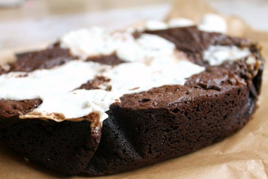 Slow cooker marshmallow brownies