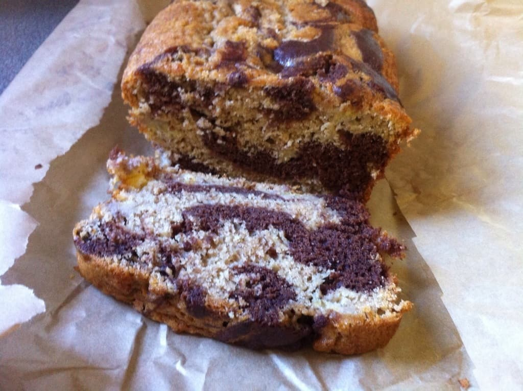 Marbled Chocolate Banana Bread by BakingQueen74