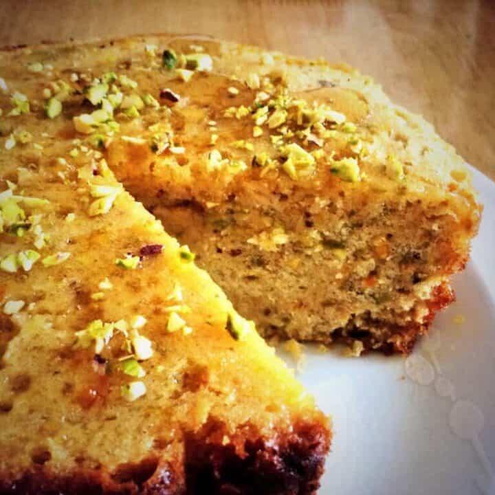 Slow Cooker Orange, Pistachio and Honey Cake