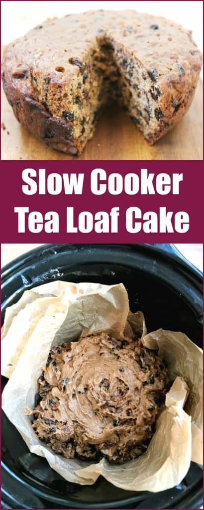 Slow cooker tea loaf cake - make this delicious traditional cinnamon fruit cake in your slow cooker!