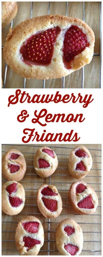 Strawberry and lemon friands