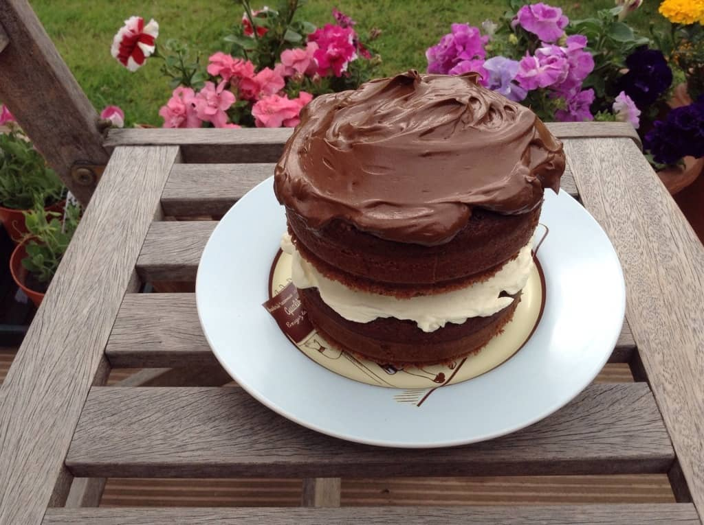 Chocolate Mini Cake with Whipped Chocolate Ganache Icing by BakingQueen74
