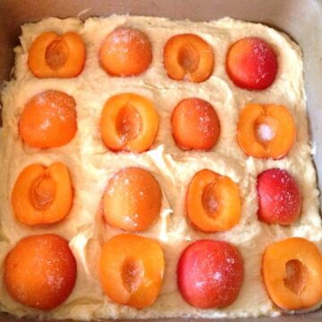 Apricot and almond traybake