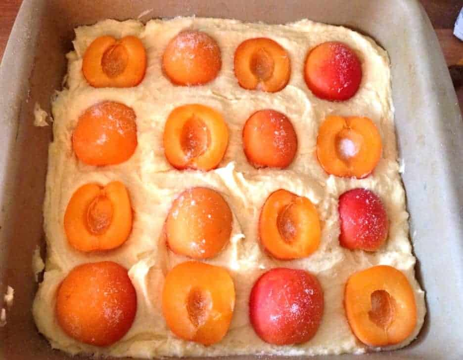 Apricot and almond traybake