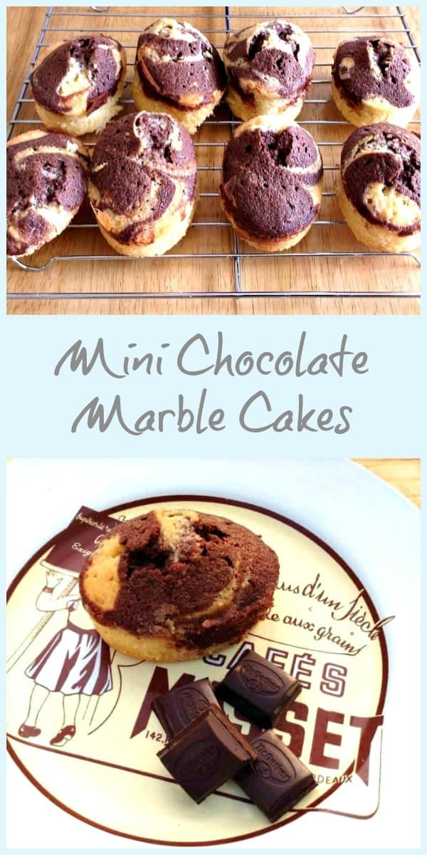 Mini Chocolate Marble Cakes