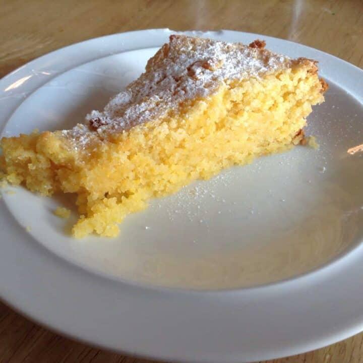 Slow cooker lime polenta cake