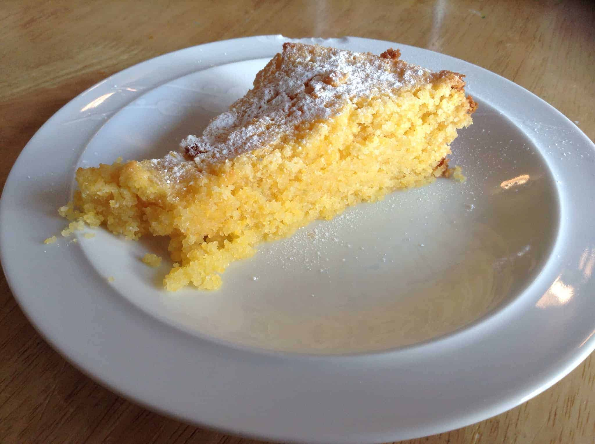 Slow cooker lime polenta cake