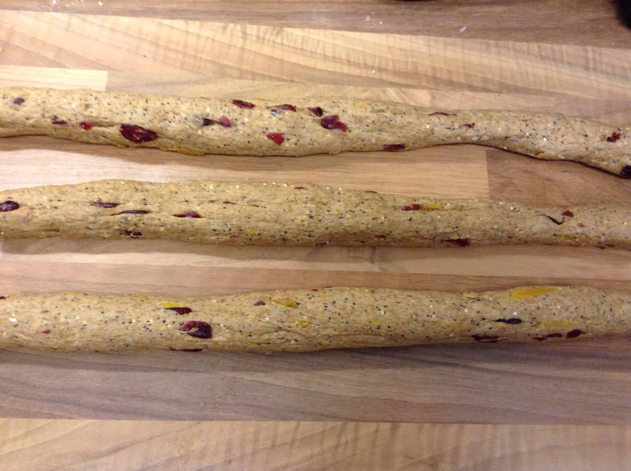 Apricot and Cranberry Wholemeal Seeded Plait