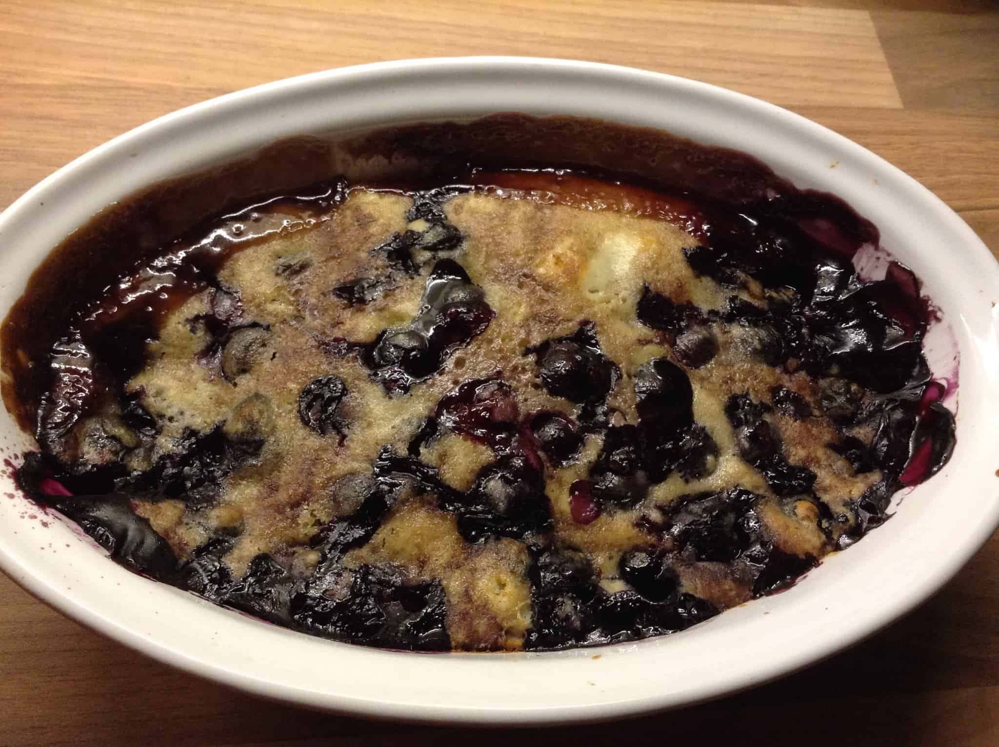 Mini Blueberry and Lime Self-Saucing Pudding