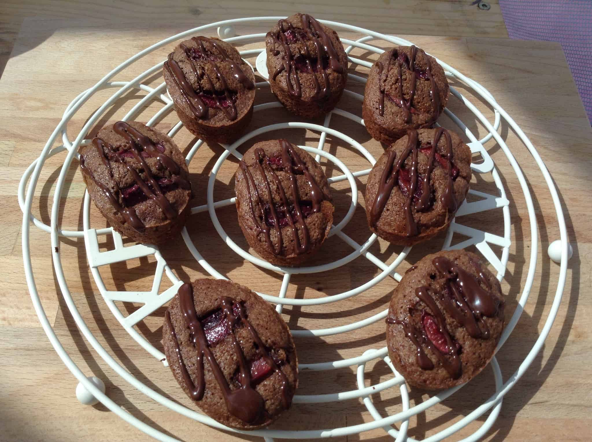 Black Forest Cherry Friands