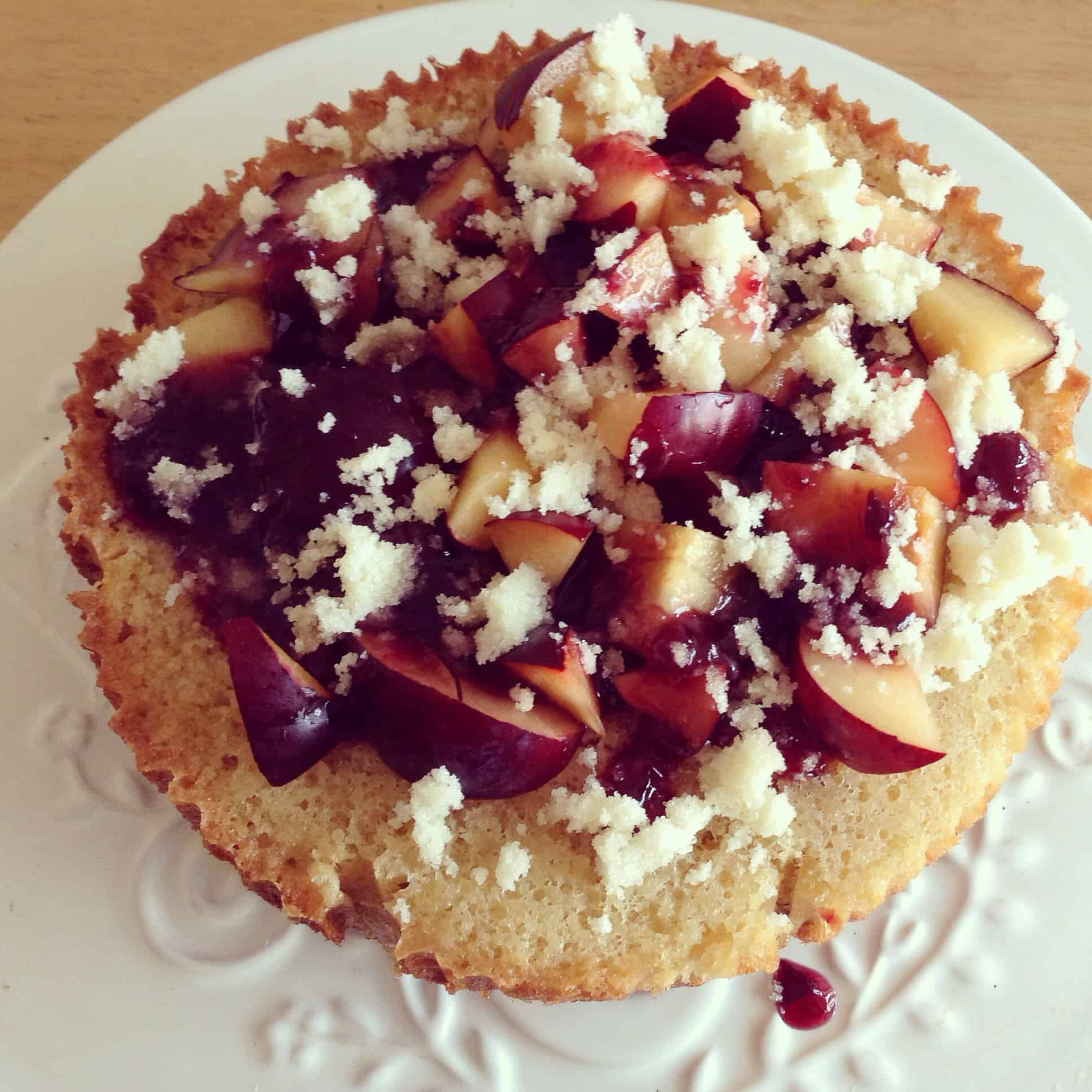 Slow Cooker Plum and Almond Cake