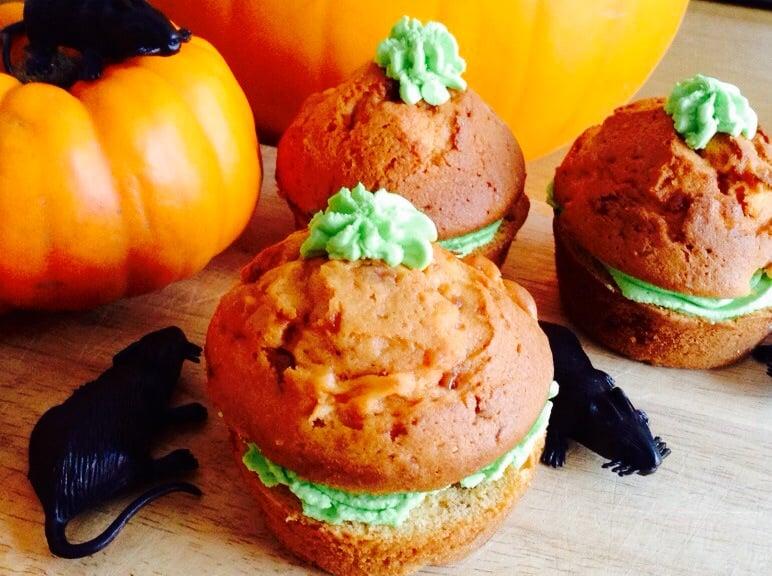 "Halloween Bake – ""Pumpkin"" Toffee Apple Mini Cakes"