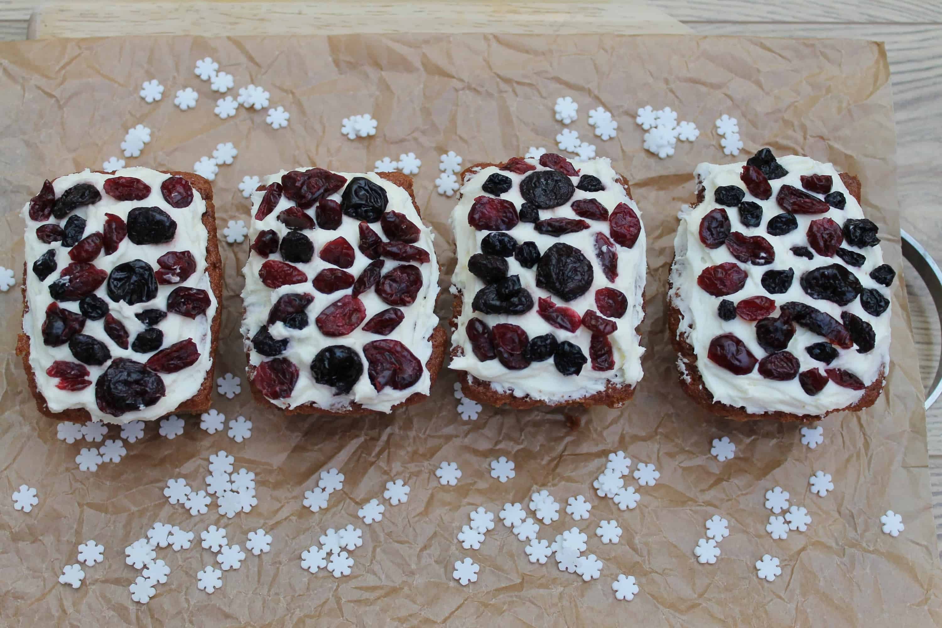 Mini Ginger and Berry Loaves