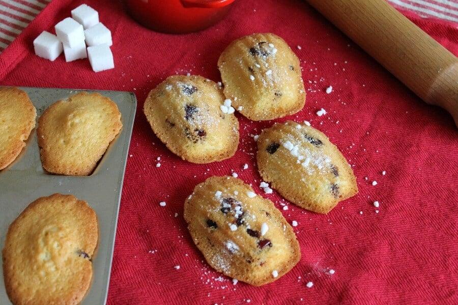 Cranberry and orange madeleines recipe