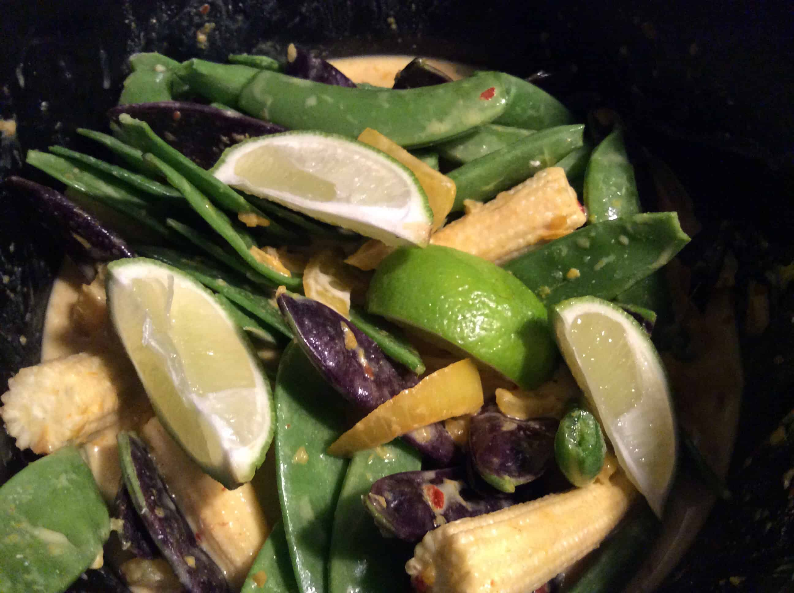 Slow Cooker Malaysian-Style Veggie Curry with Lime