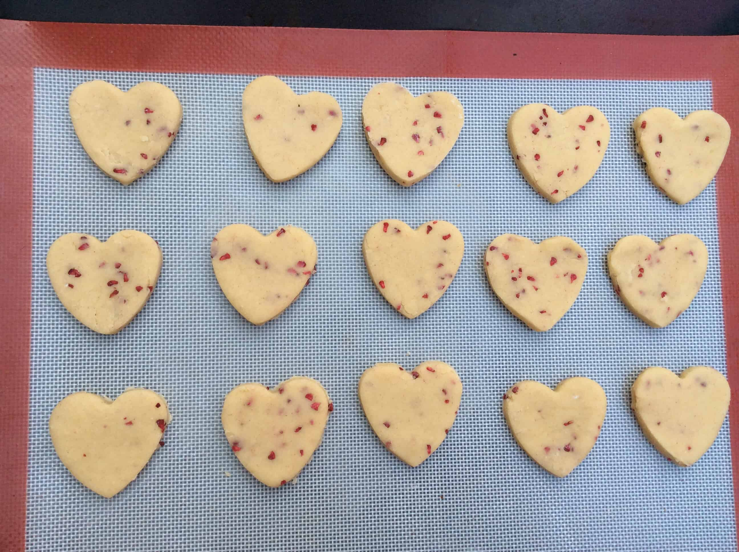 ... week we made these raspberry shortbread hearts for Valentines Day