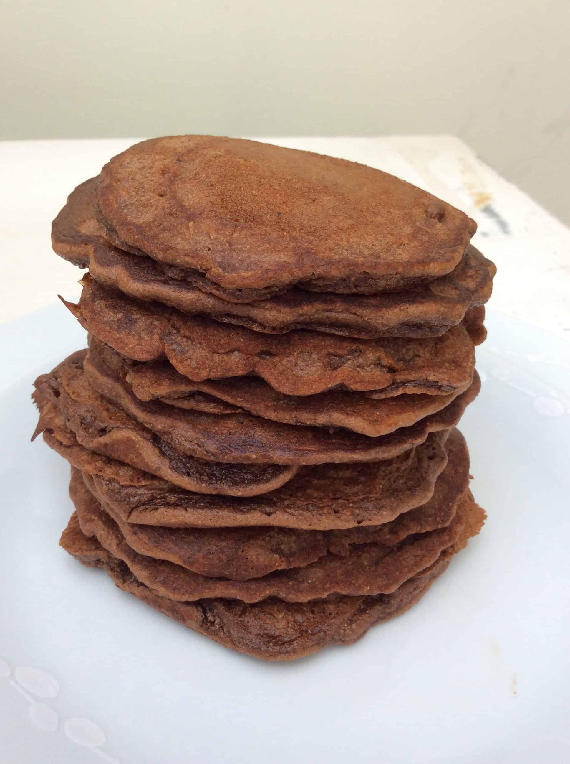 Nutella Spelt Pancakes   BakingQueen74