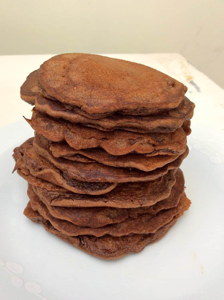 Nutella spelt pancakes
