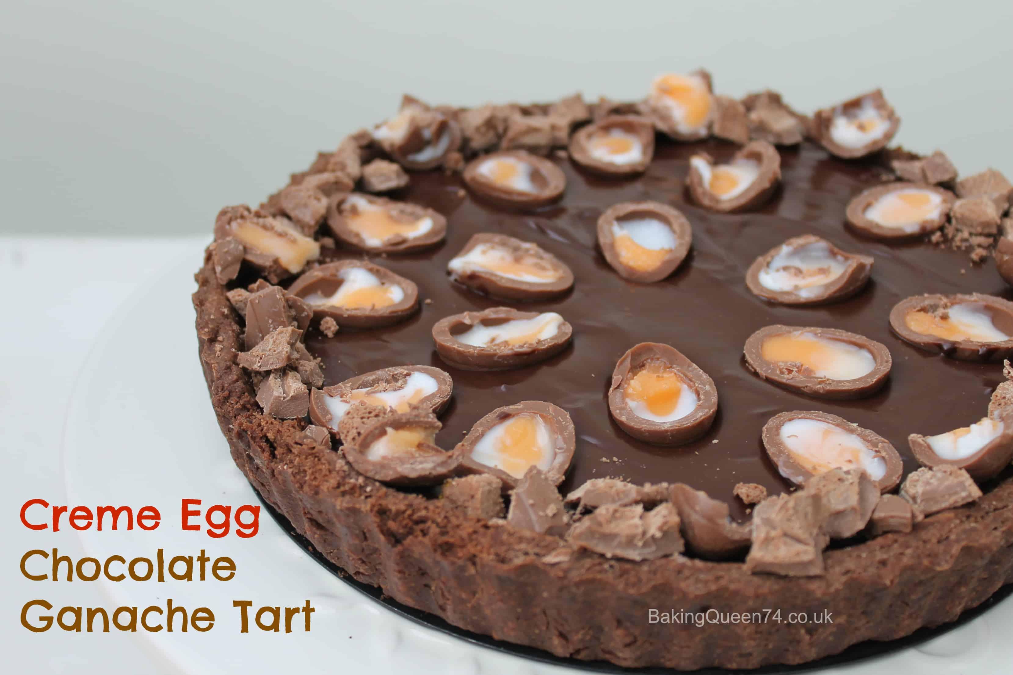 Creme Egg chocolate ganache tart - BakingQueen74