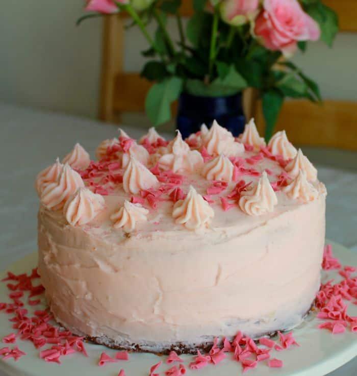 Strawberry Triple Layer Cake