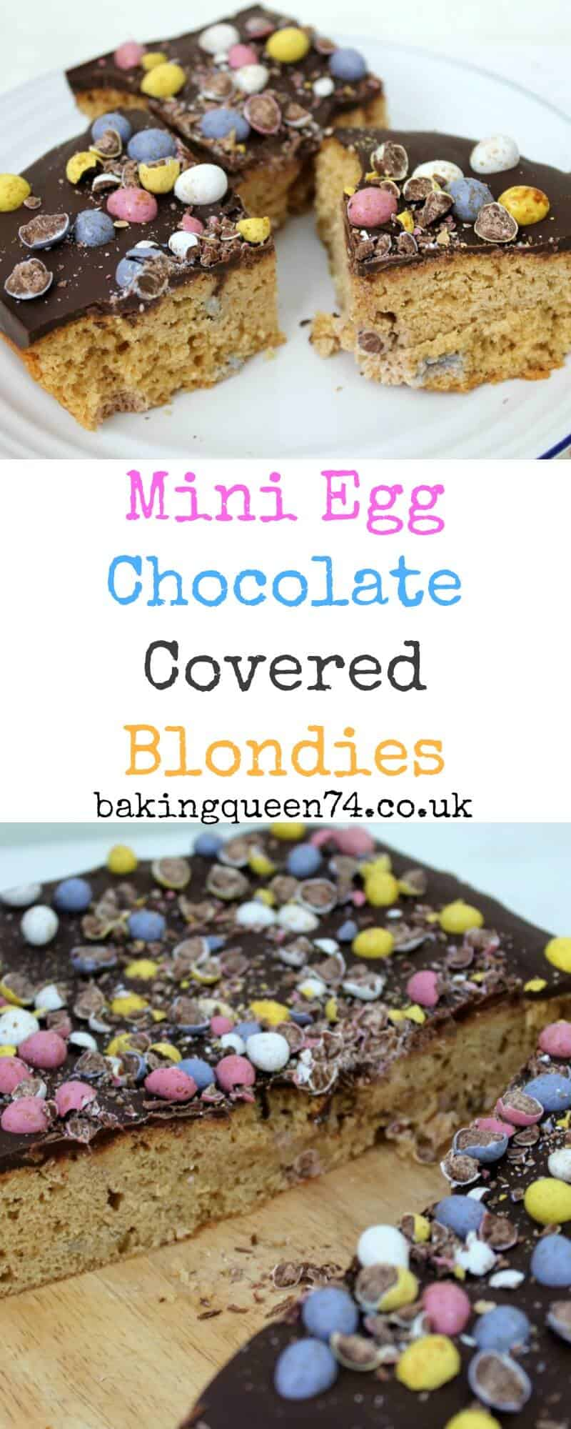 Mini Egg Chocolate Covered Blondies Bakingqueen74