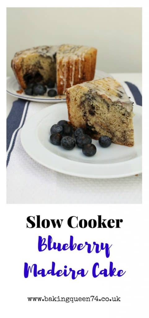 Slow Cooker Blueberry Madeira Cake from bakingqueen74.co.uk