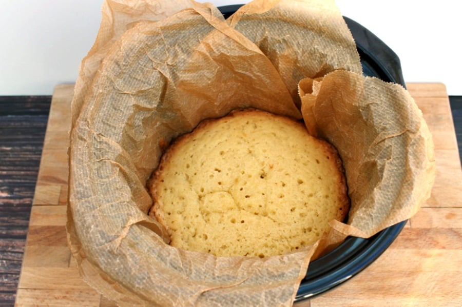 Cake baked in a slow cooker.