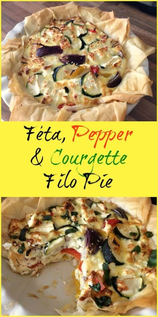 eta, Pepper and Courgette Filo Pie
