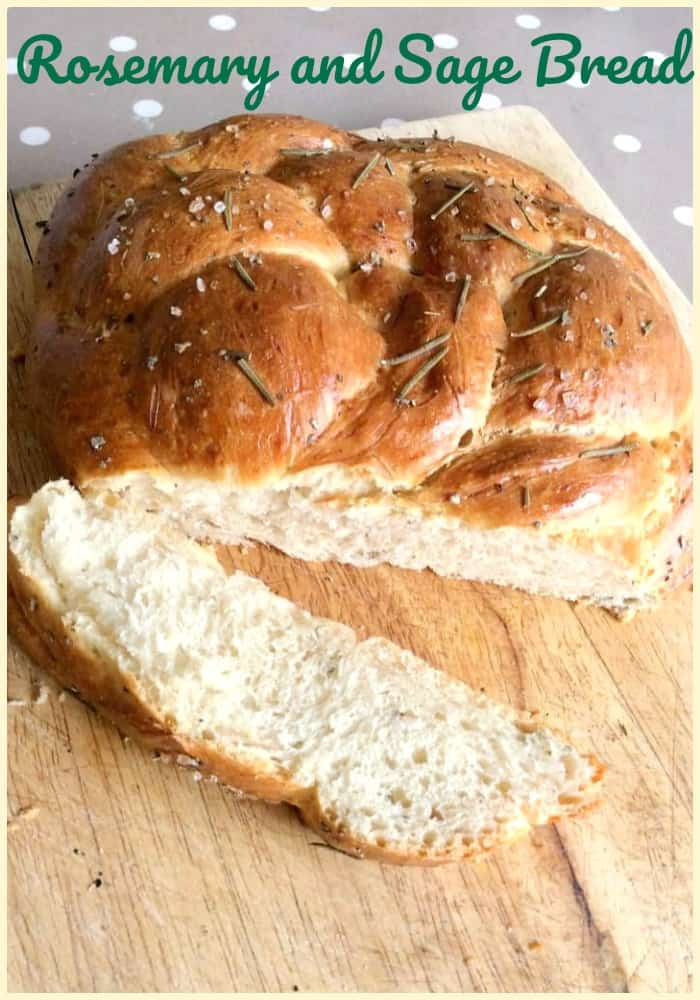 Rosemary and Sage Bread - this delicious loaf can be served with soups, salads, on the side or in sandwiches!