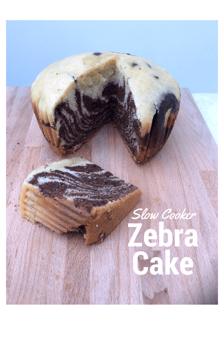 Slow cooker zebra cake