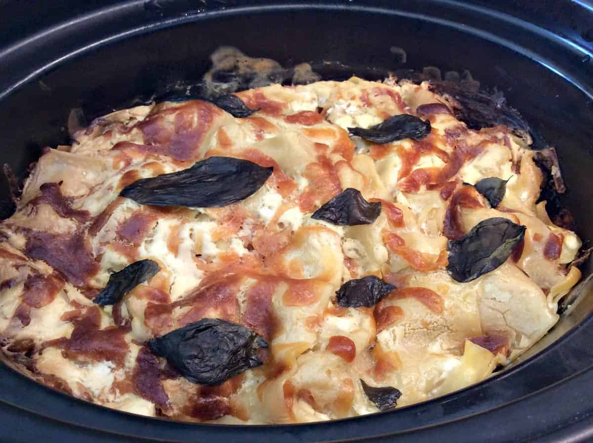 Lighter slow cooker lasagne