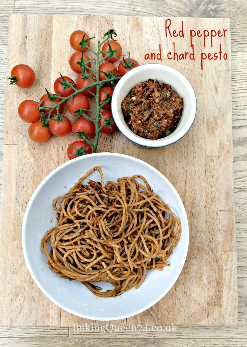 Red pepper and chard pesto