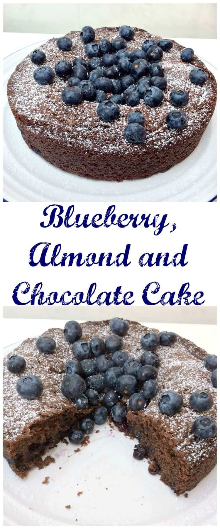 Chocolate Almond And Blueberry Cake Bakingqueen74