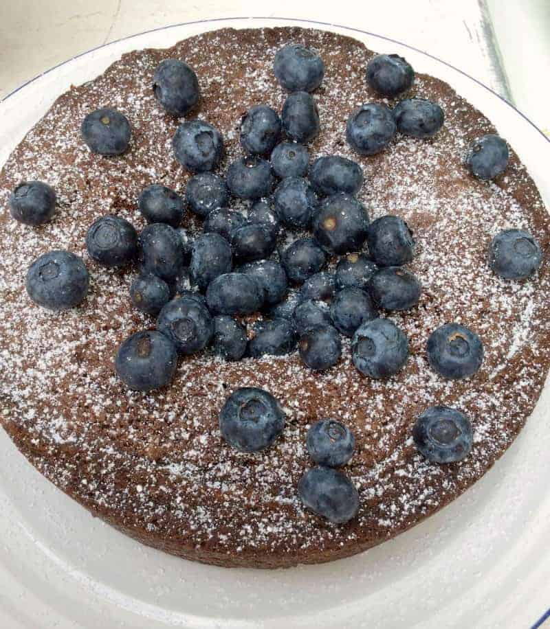 Chocolate, Almond and Blueberry Cake - BakingQueen74