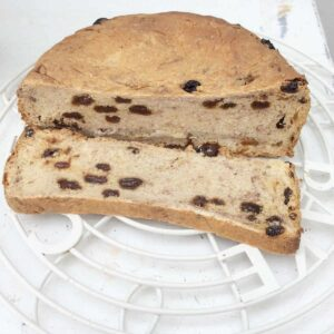 Slow cooker cinnamon raisin bread