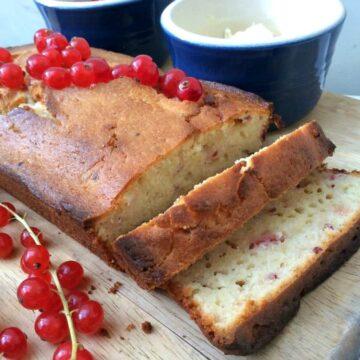 Redcurrant Yoghurt Loaf Cake