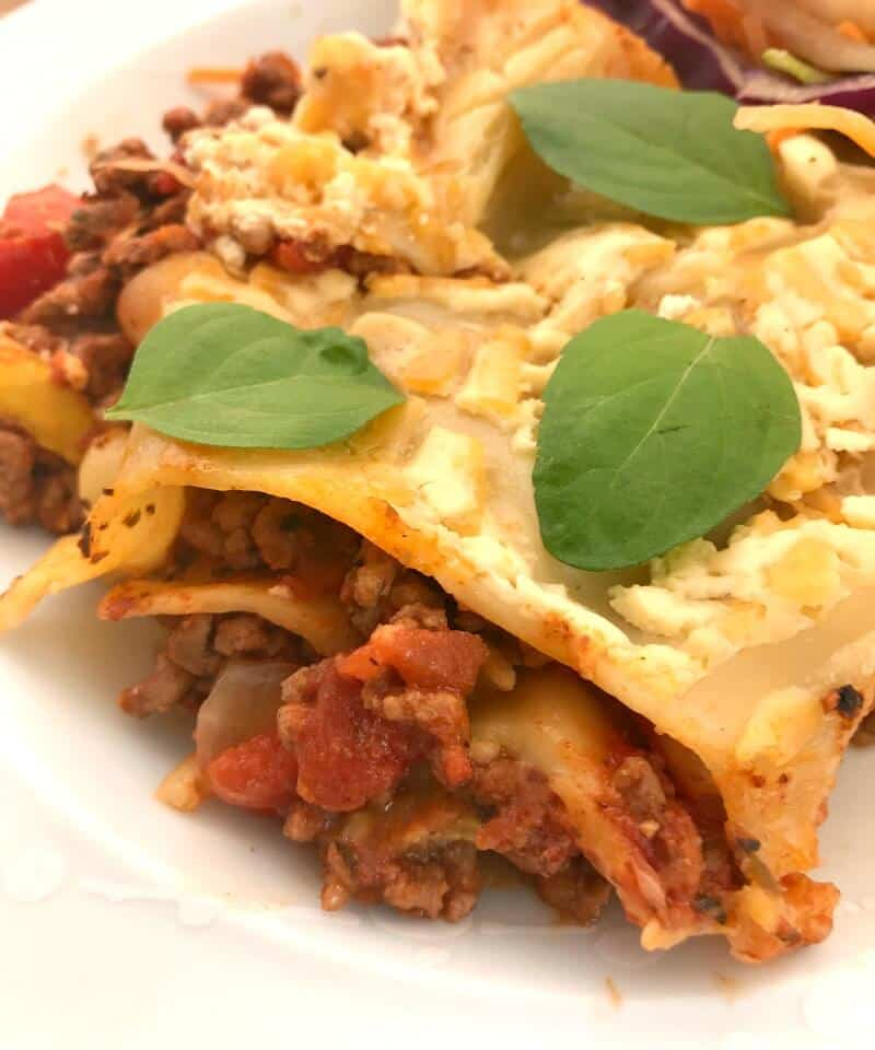 Lighter slow cooker lasagne - a favourite family slow cooker meal