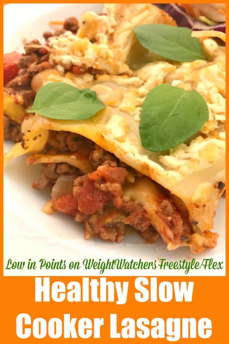 Healthy Slow Cooker Lasagne recipe