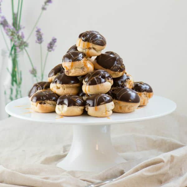 Double-Chocolate-and-Caramel-Profiteroles-3